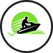 A Newcastle Jet ski centre logo.