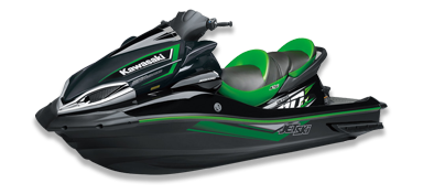 An image of a green and black jetski.